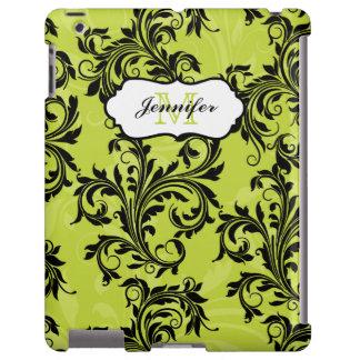 iPad negro verde 2/3/4 de los remolinos de las vol