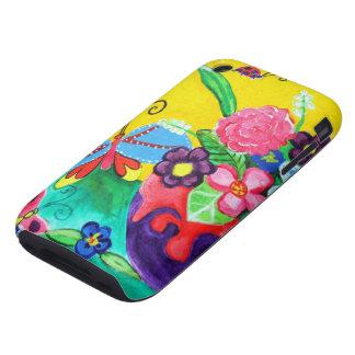 iPhone 3G/3GS de las mariposas y de las mariquitas iPhone 3 Tough Cárcasa