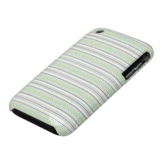 iPhone 3G Barely There del pistacho de la raya del iPhone 3 Carcasa