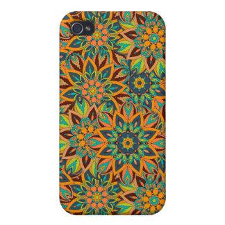 iPhone 4/4S Carcasa Diseño floral del modelo del extracto de la