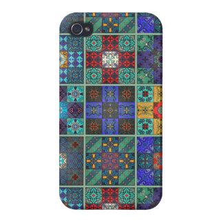 iPhone 4/4S Carcasa Ornamento de Talavera del mosaico del vintage