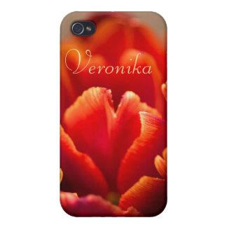 iPhone 4/4S Carcasa Tulipán rojo