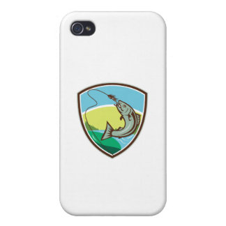 iPhone 4/4S Carcasas Escudo penetrante del señuelo del gancho de la