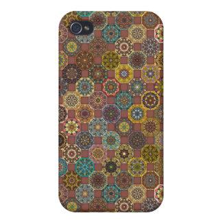 iPhone 4/4S Funda Diseño abstracto colorido del modelo de la teja