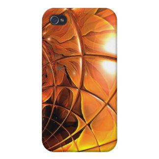 iPhone 4/4S Funda Extracto del vidrio del panal del arte