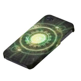 iPhone 4/4S Funda Reloj verde del caos, fractal Manda de la alquimia