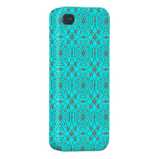 iPhone 4/4S Fundas Azul del modelo de los diamantes artificiales del