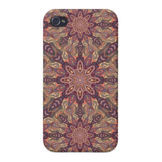 iPhone 4/4S Fundas Diseño floral del modelo del extracto de la