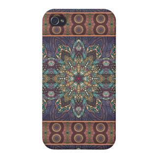 iPhone 4/4S Fundas Modelo floral étnico abstracto colorido de la
