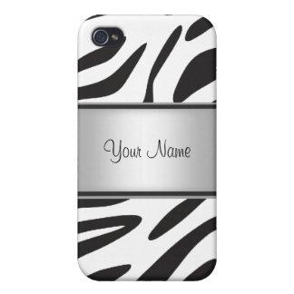 iPhone 4/4S Fundas Piel I de la cebra