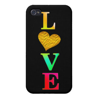 iPhone 4 Carcasa diseño colorido lindo de la cubierta del corazón