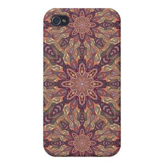iPhone 4 Carcasa Diseño floral del modelo del extracto de la