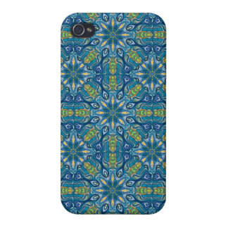 iPhone 4 Carcasa Modelo floral étnico abstracto colorido de la