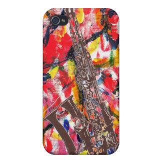 iPhone 4 Carcasas Extracto del saxofón del jazz
