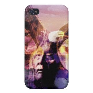 iPhone 4 Carcasas Guerrero del indio del nativo americano