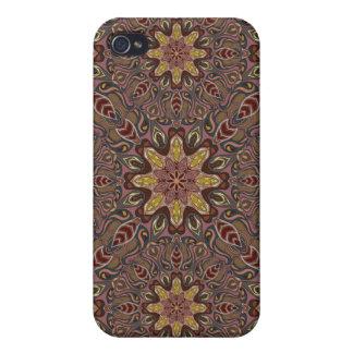 iPhone 4 Carcasas Modelo floral étnico abstracto colorido de la