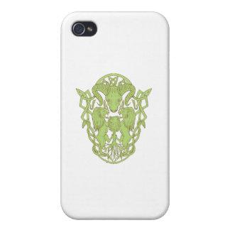 iPhone 4 Carcasas Nudo del Celtic del escudo de armas del árbol del