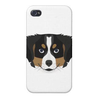 iPhone 4 Carcasas Perro de montaña de Bernese del ilustracion