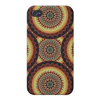 iPhone 4 Cobertura Modelo floral étnico abstracto colorido de la