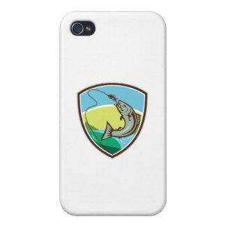 iPhone 4 Coberturas Escudo penetrante del señuelo del gancho de la