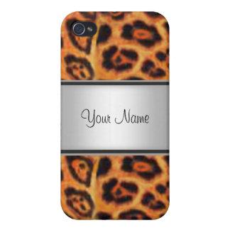 iPhone 4 Coberturas Piel I del leopardo