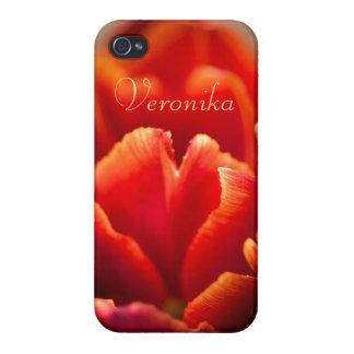 iPhone 4 Coberturas Tulipán rojo