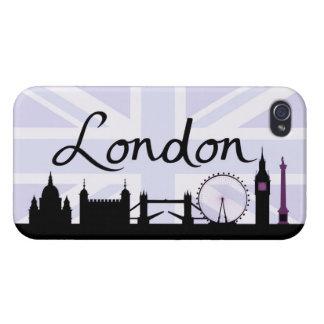 iPhone 4 Protector Escritura de Londres en el cielo de Union Jack y