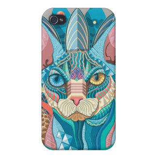 iPhone 4 Protector Gato cósmico de Sphynx