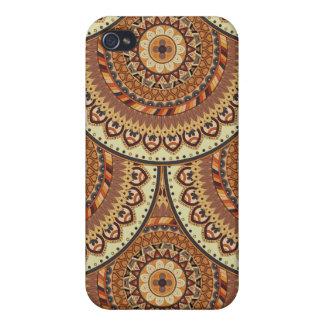 iPhone 4 Protector Modelo floral étnico abstracto colorido de la