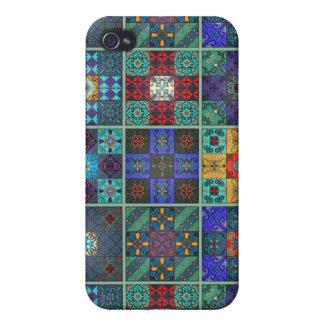 iPhone 4 Protector Ornamento de Talavera del mosaico del vintage