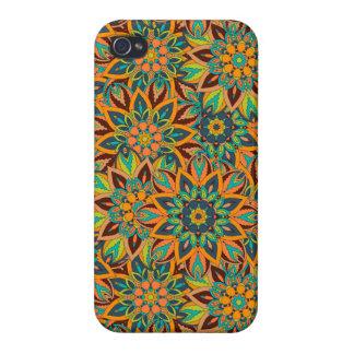 iPhone 4 Protectores Diseño floral del modelo del extracto de la