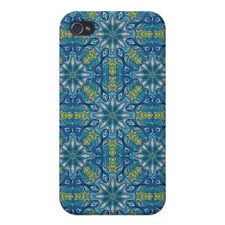 iPhone 4 Protectores Modelo floral étnico abstracto colorido de la