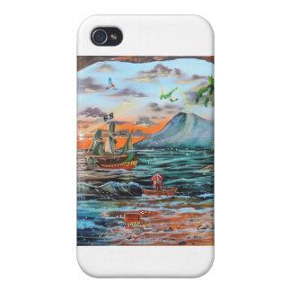 iPhone 4 Protectores Pintura de Bell del chapucero de la ensenada del