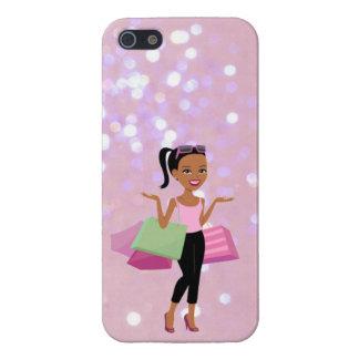 iPhone 5 Carcasa caso afroamericano del iphone de la mujer de las