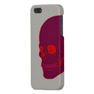 iPhone 5 Carcasa Cráneo de neón rojo