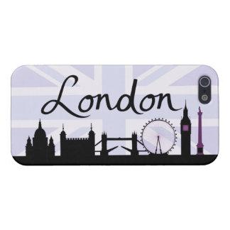 iPhone 5 Cárcasa Escritura de Londres en el cielo de Union Jack y