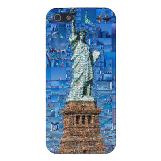 iPhone 5 Carcasa estatua del collage de la libertad - estatua del