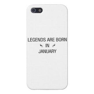 iPhone 5 Cárcasa Las LEYENDAS SON en enero - caso NACIDO del iPhone