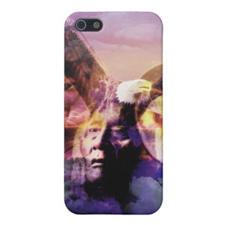 iPhone 5 Cárcasas Guerrero del indio del nativo americano