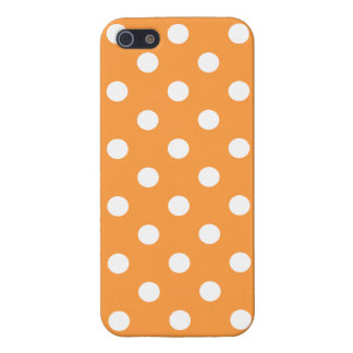 iPhone 5 Carcasas Modelo de lunar anaranjado