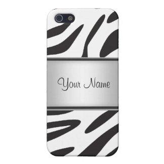 iPhone 5 Cárcasas Piel I de la cebra