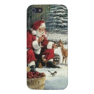 iPhone 5 Cárcasas Pintura de Papá Noel - arte del navidad