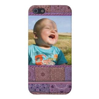 iPhone 5 Carcasas Plantilla de la foto del entusiasta que acolcha