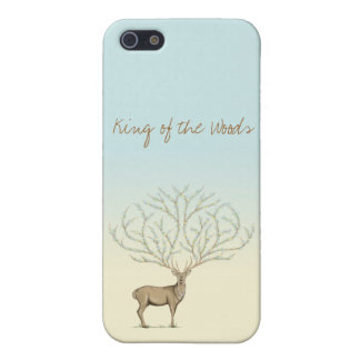 Iphone 5 case Flower Deer /iPhone 5 Carcasa Ciervo iPhone 5 Protector