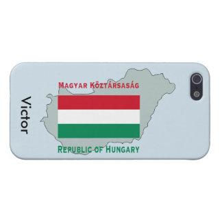iPhone 5 Cobertura Mapa y bandera de Hungría