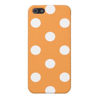 iPhone 5 Cobertura Modelo de lunar anaranjado