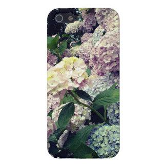 iPhone 5 Coberturas Caja floral de la foto del Hydrangea de los flores