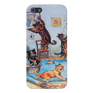 iPhone 5 Coberturas Gatos en una diversión de la limpieza de Louis