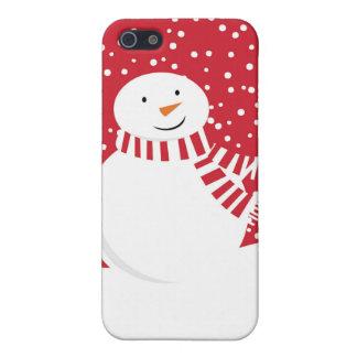 iPhone 5 Coberturas muñeco de nieve rojo y blanco contemporáneo
