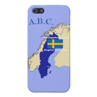 iPhone 5 Funda Mapa y bandera de Suecia